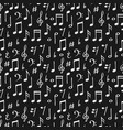 chalk music notes and signs seamless pattern hand vector image