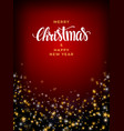 christmas gold star background with pearls and vector image vector image