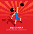 circus strong man isometric vector image vector image