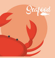 crabster fresh seafood vector image vector image