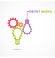 Creative light bulb and gear abstract design vector image vector image