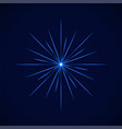 crystal blue simple flare on blue vector image vector image