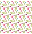 Cute flat background pattern with flowers vector image vector image
