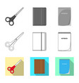 design of office and supply icon vector image