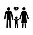 divorce glyph icon vector image vector image