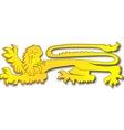 English Lion vector image vector image