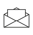 envelope white with letter icon vector image