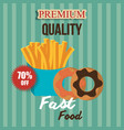 fast food design isolated vector image vector image