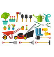 garden tools and items with many size and model vector image