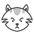 grey angry cat on a white background vector image vector image