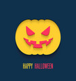 happy halloween flat paper card vector image