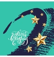 holiday background with golden stars and vector image