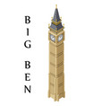 isometric highly detailed big ben tower vector image vector image