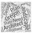 Landscape architect in Oregon Word Cloud Concept vector image vector image