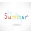 lettering summer grunge icon vector image vector image