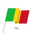 Mali Ribbon Waving Flag Isolated on White vector image vector image
