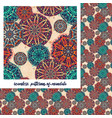 mandala pattern on beige vector image vector image