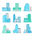 Medical building flat vector image vector image