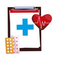 medical order checklist and medicine icons vector image vector image