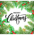 merry christmas greeting card decoration new year vector image