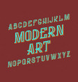 modern art typeface retro font isolated english vector image vector image