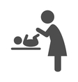Mother swaddles the baby pictogram flat icon vector image vector image