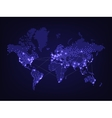 Night world map vector image vector image