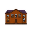 old abandoned house with broken roof and windows vector image vector image
