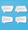 paper flat speech bubble icon for text quote vector image vector image