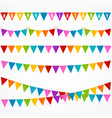 realistic 3d detailed buntings garland flag set vector image