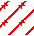 red ribbon and bow seamless pattern background vector image vector image