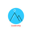 round blue leadership logo vector image