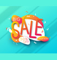 sale banner template design big sale for online vector image vector image