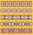 seamless ethnic floral paisley stripe pattern vector image vector image