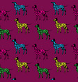 seamless pattern black dogs silhouettes with vector image