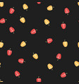 seamless pattern with colorful vegetables vector image vector image