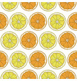 seamless pattern with lemon and orange slices vector image vector image