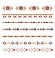 set flat natural horizontal dividers seamless vector image vector image