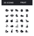 set simple icons fruit vector image vector image