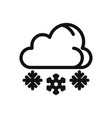 snowing icon wintercold symbol vector image