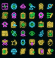 standard icons set neon vector image vector image
