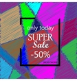 Super Sale Banner Design on creative background vector image
