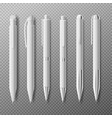 template pens in different angles realistic vector image vector image