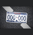 texas auto license plate on the asphalt detailed vector image vector image