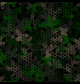 texture military camouflage seamless pattern vector image vector image