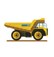 tipper dump truck for mining site vector image vector image
