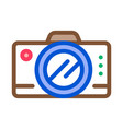 travel hiking camera icon outline vector image