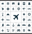 travel icons universal set for web and ui vector image