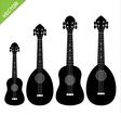 ukulele silhouettes vector image