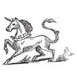 unicorn vintage vector image vector image